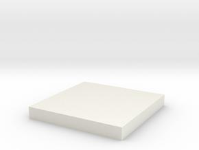Tie 181 Chest Box Square in White Natural Versatile Plastic