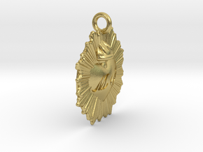 Charm MC in Natural Brass