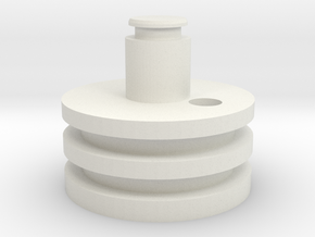 Rear Plug in White Natural Versatile Plastic