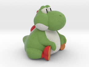Fat Yoshi (Super Mario RPG) in Natural Full Color Sandstone: Extra Small