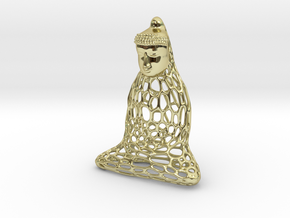 Golden Buddha in 18k Gold Plated Brass
