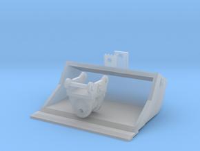 Miniatuur kantelbak voor spoorkraan 1.80 breed mod in Smooth Fine Detail Plastic