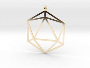 D20 Pendant in 14K Yellow Gold