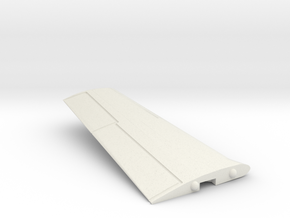 T-28B-144scale-07-OnTheDeck-Wing-Left in White Natural Versatile Plastic