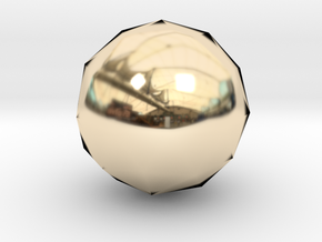Icosphere in 14K Yellow Gold