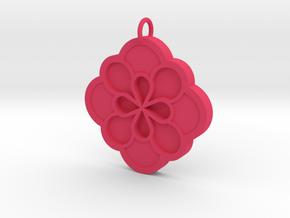 Blossom Pendant in Pink Processed Versatile Plastic