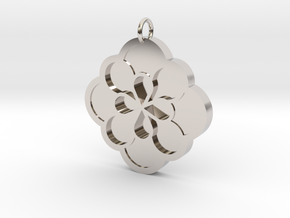 Blossom Pendant in Rhodium Plated Brass