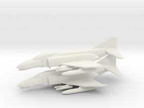 1/350 F-4C (x2) in White Natural Versatile Plastic