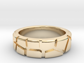 Tectonic Shift (Women) in 14k Gold Plated Brass