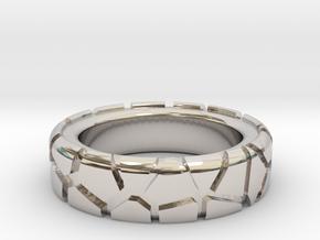 Tectonic Shift (Men) in Rhodium Plated Brass