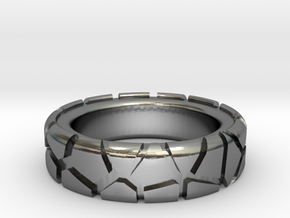 Tectonic Shift (Men) in Polished Silver
