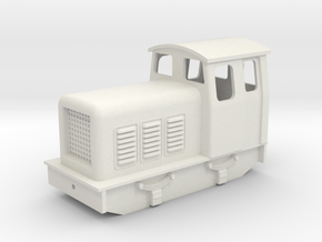 5.5 mm scale slightly chunky diesel loco  in White Natural Versatile Plastic