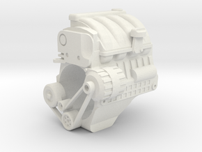 Renault K9K engine in White Natural Versatile Plastic