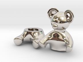 Small Teddy bear Box in Rhodium Plated Brass