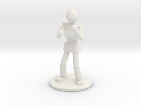 Prototype: Male Unarmed  in White Natural Versatile Plastic