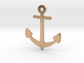 pedant anchor x smal size in Polished Bronze
