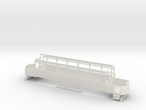 Blackpool Lancaster 1911 condition Lower deck in White Natural Versatile Plastic: 1:76 - OO