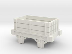 00 Scale Open Truck (Motorised) in White Natural Versatile Plastic