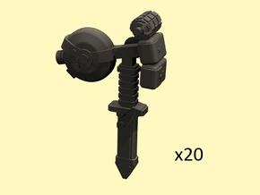 28mm infantry accessories  in Smoothest Fine Detail Plastic