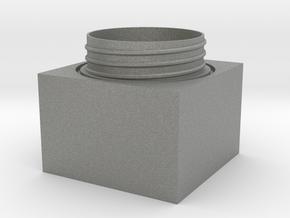 Cubic jar - bottom in Gray PA12