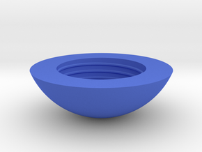 Sphere jar - top in Blue Processed Versatile Plastic