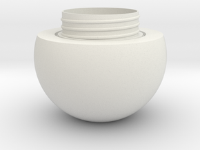Sphere jar - bottom in White Natural Versatile Plastic