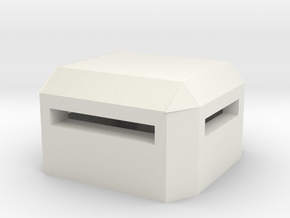 Square Bunker in White Natural Versatile Plastic