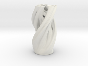 Julia Vase in White Natural Versatile Plastic