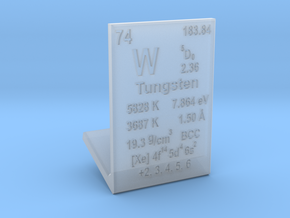 Tungsten Element Stand in Smooth Fine Detail Plastic