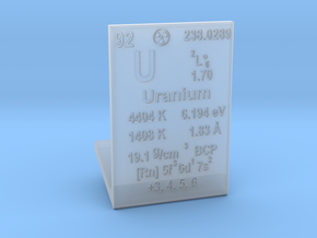 Uranium Element Stand in Smooth Fine Detail Plastic