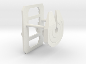 1/32 to 1/34th scale fifth wheel plate in White Natural Versatile Plastic