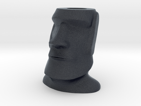 Moai Easter Island Head Charm in Black Professional Plastic