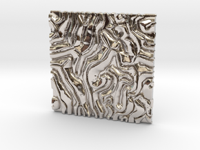 Coral pattern Seamless Decorative miniature  tiles in Rhodium Plated Brass
