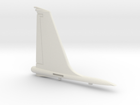 U-2R-144scale-02-VerticalStabilizer in White Natural Versatile Plastic
