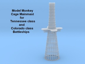 1/350 Tennessee & Colorado class Cage Mainmast in Smoothest Fine Detail Plastic