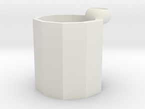 flower pot in White Natural Versatile Plastic