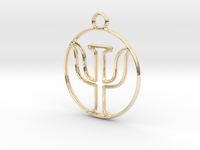 Clinical Psychology in 14k Gold Plated Brass