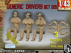 1/43 Generic Drivers Set005 in Smooth Fine Detail Plastic