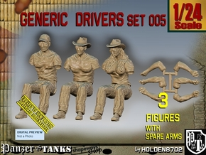 1/24 Generic Drivers Set005 in White Natural Versatile Plastic