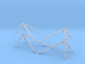 06-Landing Gear Outrigger in Smooth Fine Detail Plastic