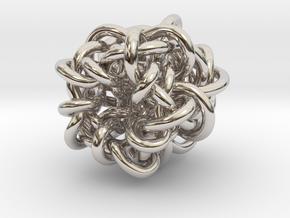 B&G Knot 07 in Rhodium Plated Brass