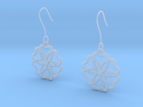 Geometric Earrings in Smooth Fine Detail Plastic
