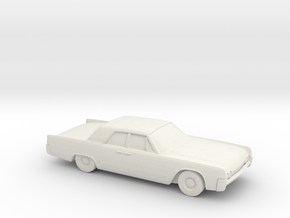 1/72 1962 Lincoln Continental Sedan in White Natural Versatile Plastic