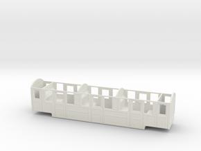 RH&DR Rebuilt Clayton Pullman (no roof) in O9 in White Natural Versatile Plastic