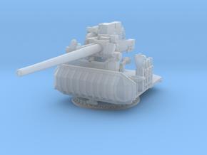 1/240 USN Single 5 inch (127 mm) 38 Gun in Smooth Fine Detail Plastic