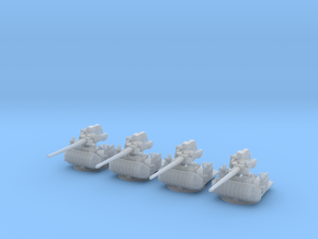 1/240 USN Single 5 inch (127 mm) 38 Gun Set x4 in Smooth Fine Detail Plastic