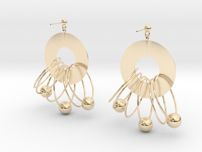 multiple circles in 14k Gold Plated Brass