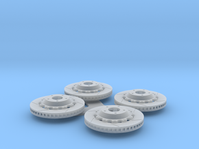 """14"""" Rotor Set with Hats - 1/12 in Smooth Fine Detail Plastic"""