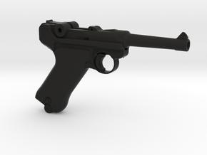 1/3 Scale German Luger  in Black Natural Versatile Plastic