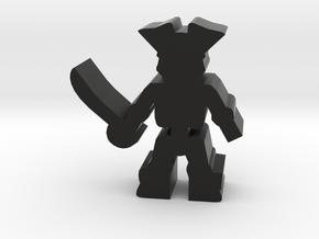 Game Piece, Pirate Skeleton in Black Natural Versatile Plastic